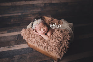 baby faux fur blanket in super soft texture for baby or kid. Handmade in the USA by FuRmanity with Custom Photo Props fur