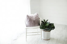 Load image into Gallery viewer, silver purple american made girls bedroom faux fur vegan bedroom by FuRmanity