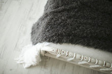 Load image into Gallery viewer, close up photo of eco-friendly faux fur blanket texture on bed