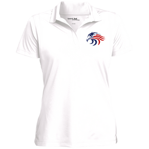 Woman's Patriotic Polo w/Tag-Free Collar