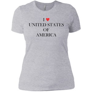 I Love the United States Woman's Premium T-Shirt