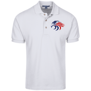 Patriotic Pique Knit 100% Cotton Polo