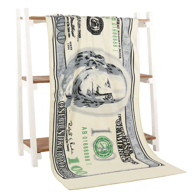 New! Beach Towel (USA flag or Ben Franklin)