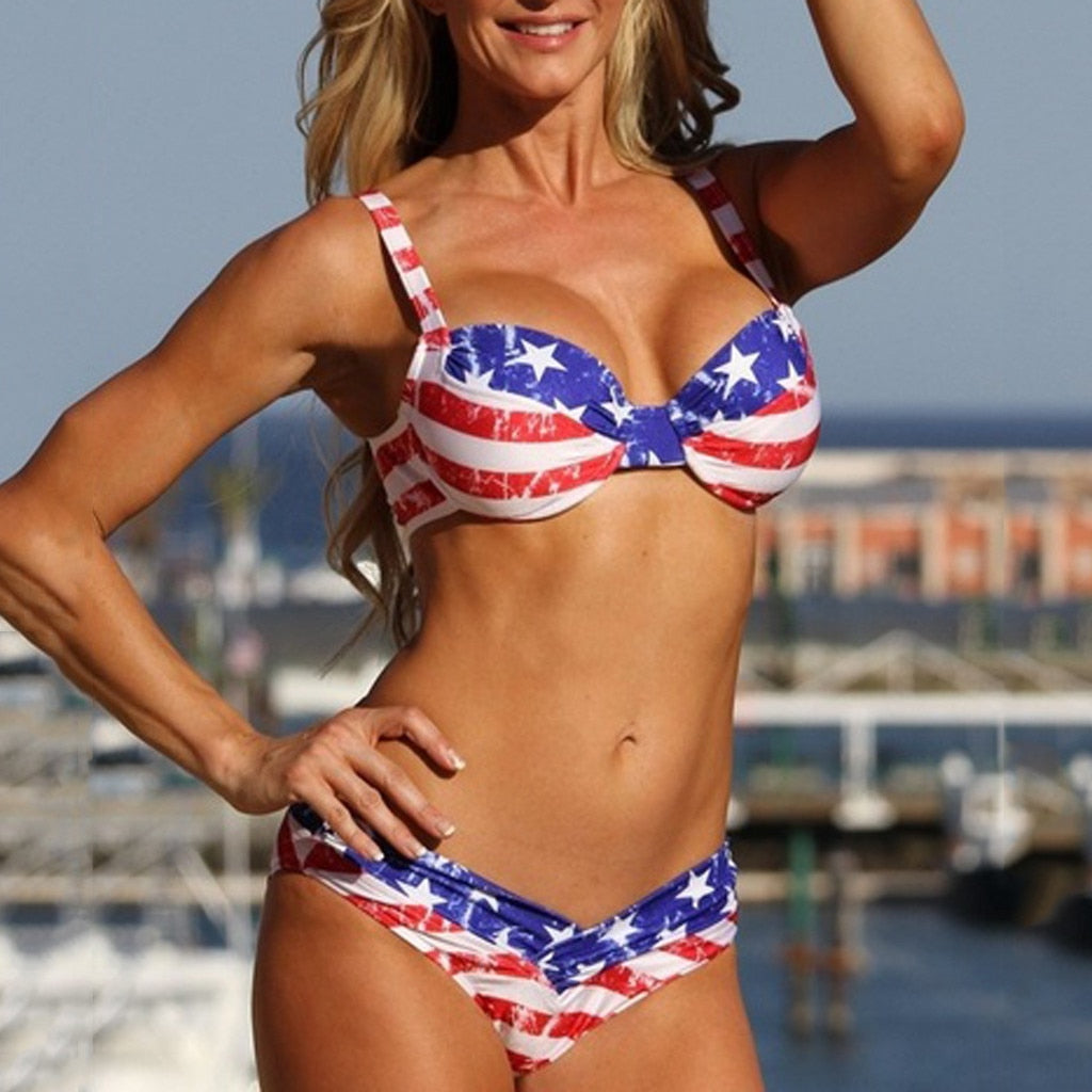 Women's Rustic American Flag™️ Swimsuit