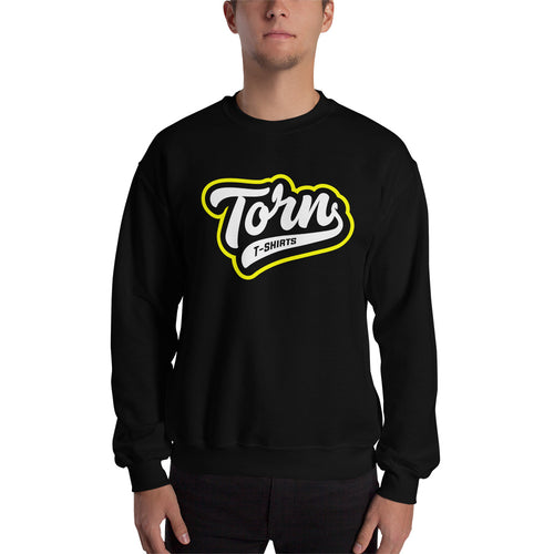 Torn Unisex Black Sweatshirt