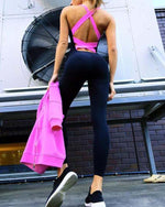 Gym Yoga Backless Running Tight Workout Tracksuit One Piece Sport Clothing Sportswear Jumpsuits