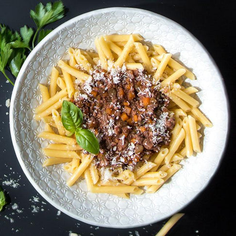 Farro Kitchen Penne with Ragu Bolognese