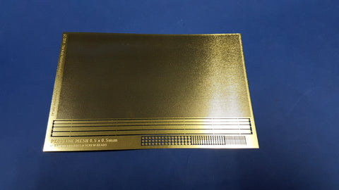 Photoetch Fine Mesh 0.5mm x 0.5mm (Brass)