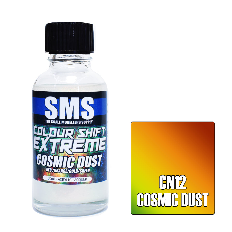 Colour Shift Extreme COSMIC DUST (RED/ORANGE/GOLD/GREEN) 30ml