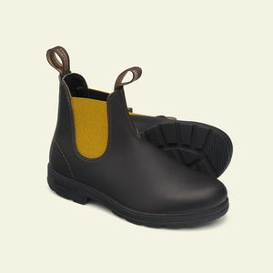 BLUNDSTONE - 1919 Brown leather mustard elastic