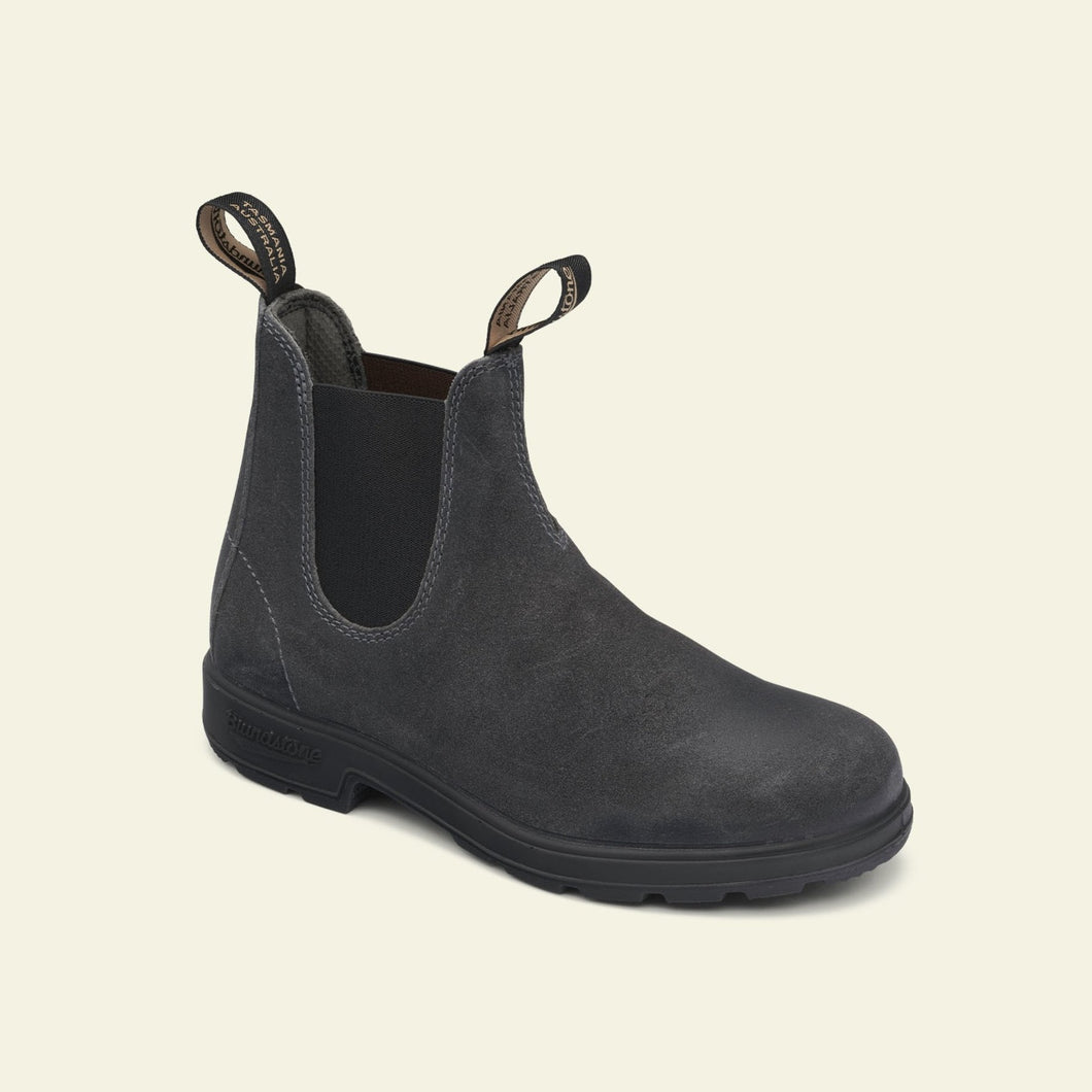 BLUNDSTONE - 1910 Steel grey waxed suede blackel