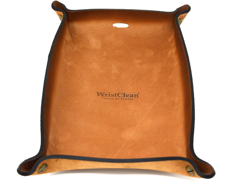 Genuine Leather Valet Tray - Suede