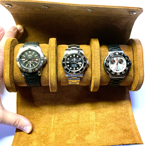 Pre-Order - Leather Watch Case - 1 Watch, 2 Watch, 3 Watch Sizes