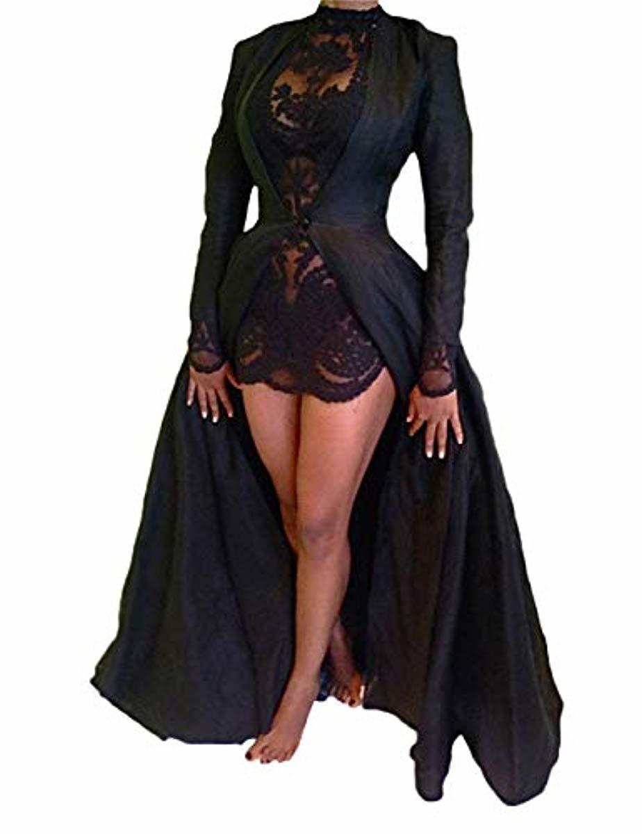 2Pcs Gothic Long Dress Gown Halloween Costume