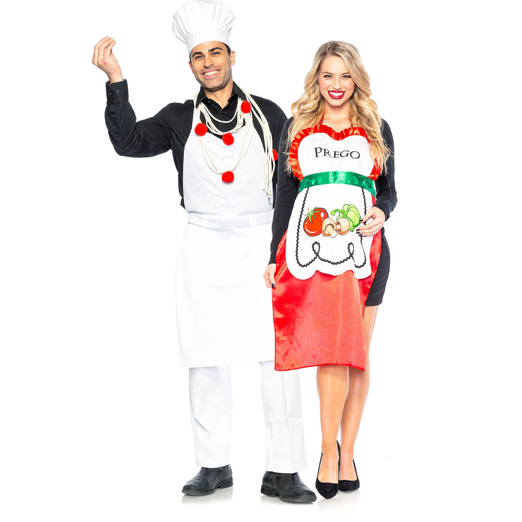 Red Pasta Chef and Prego Couples Costumes