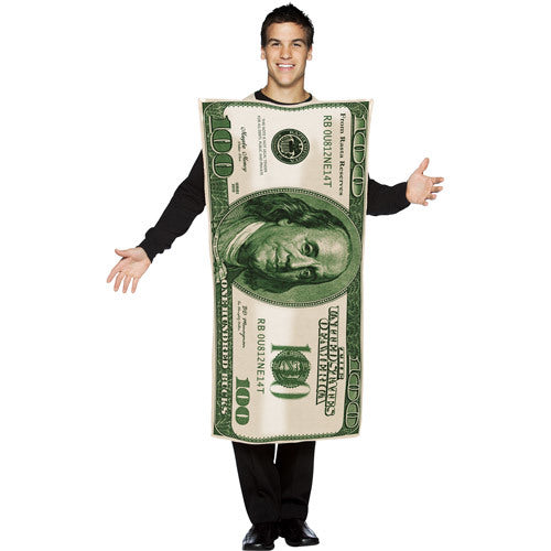 100 Dollar Bill Men's Adult Halloween Costume