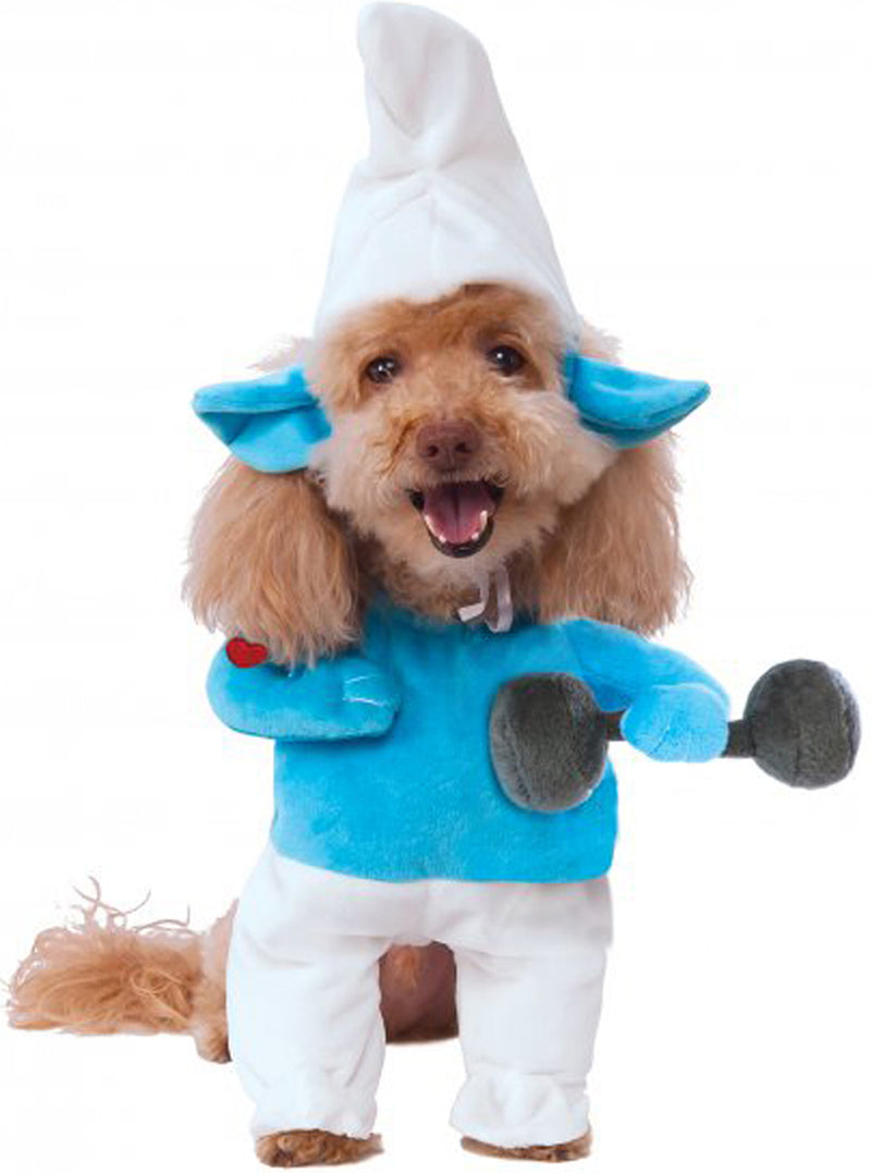 Walking Smurf Pet Dog Cat Halloween Costume