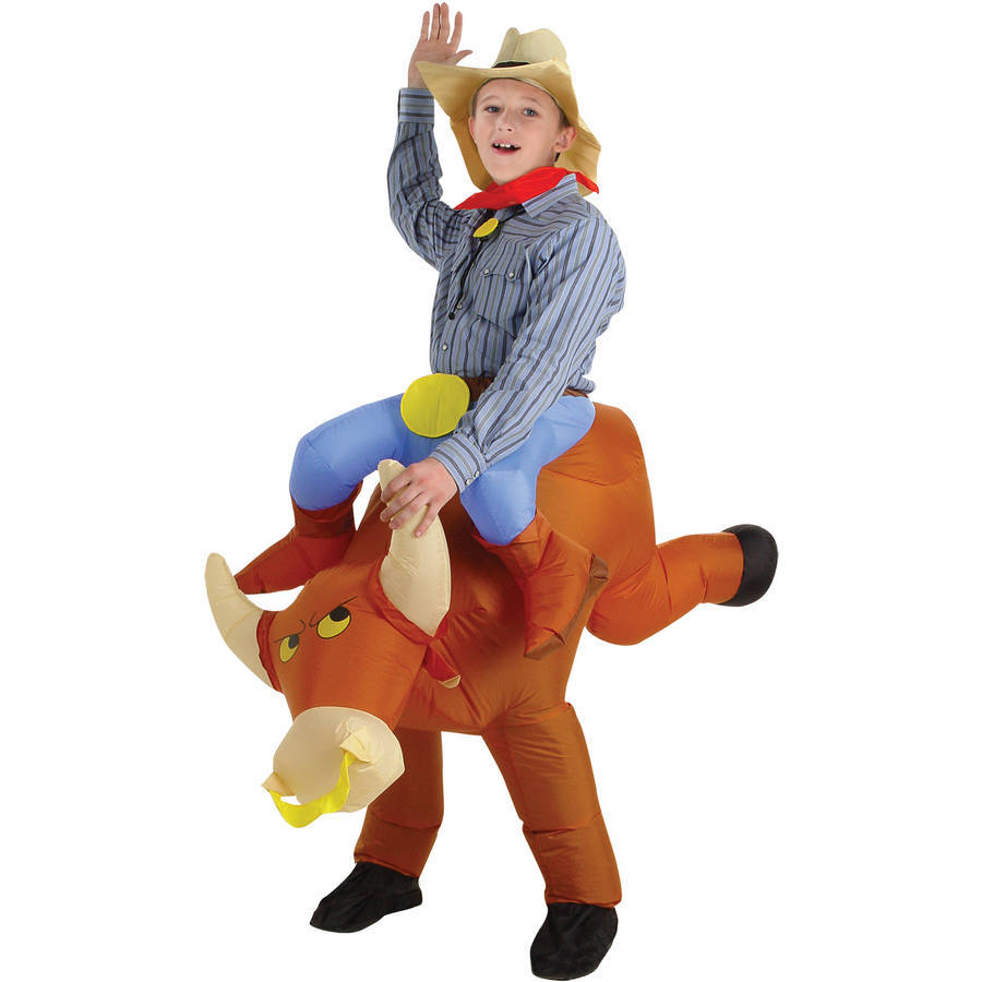 Bull Rider Kids Inflatable Child Halloween