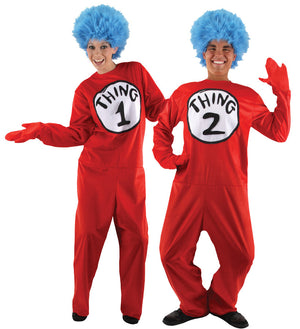 Dr. Seuss Thing 1 & 2 Couple Costume