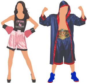 Couples Matching Boxing Champions Costume