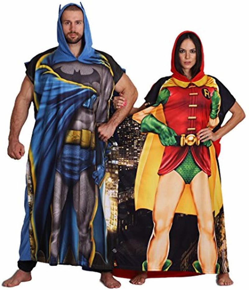 Dynamic Duo Batman and Robin Poncho Costume