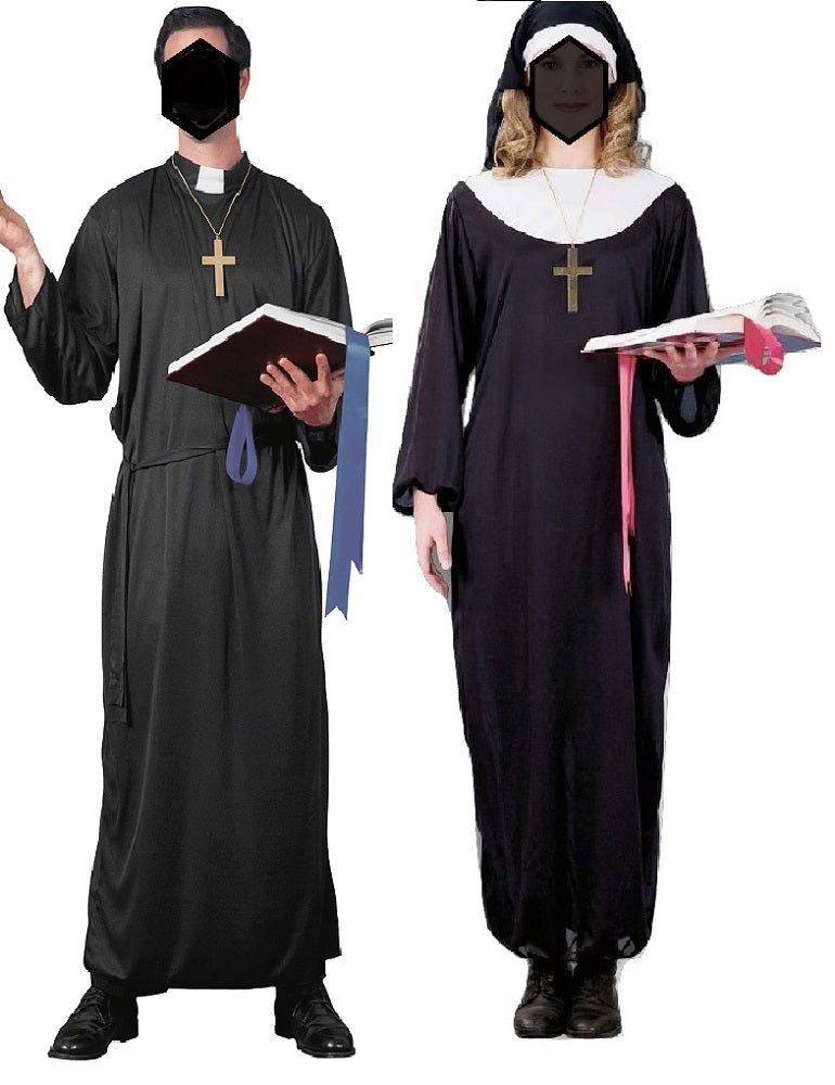 Priest And Nun Religious Catholic Halloween