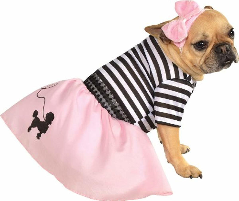 Pink Fifties Girl Pet Halloween Costume