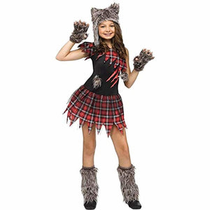 Wild Wolfie Girl Kids Costume