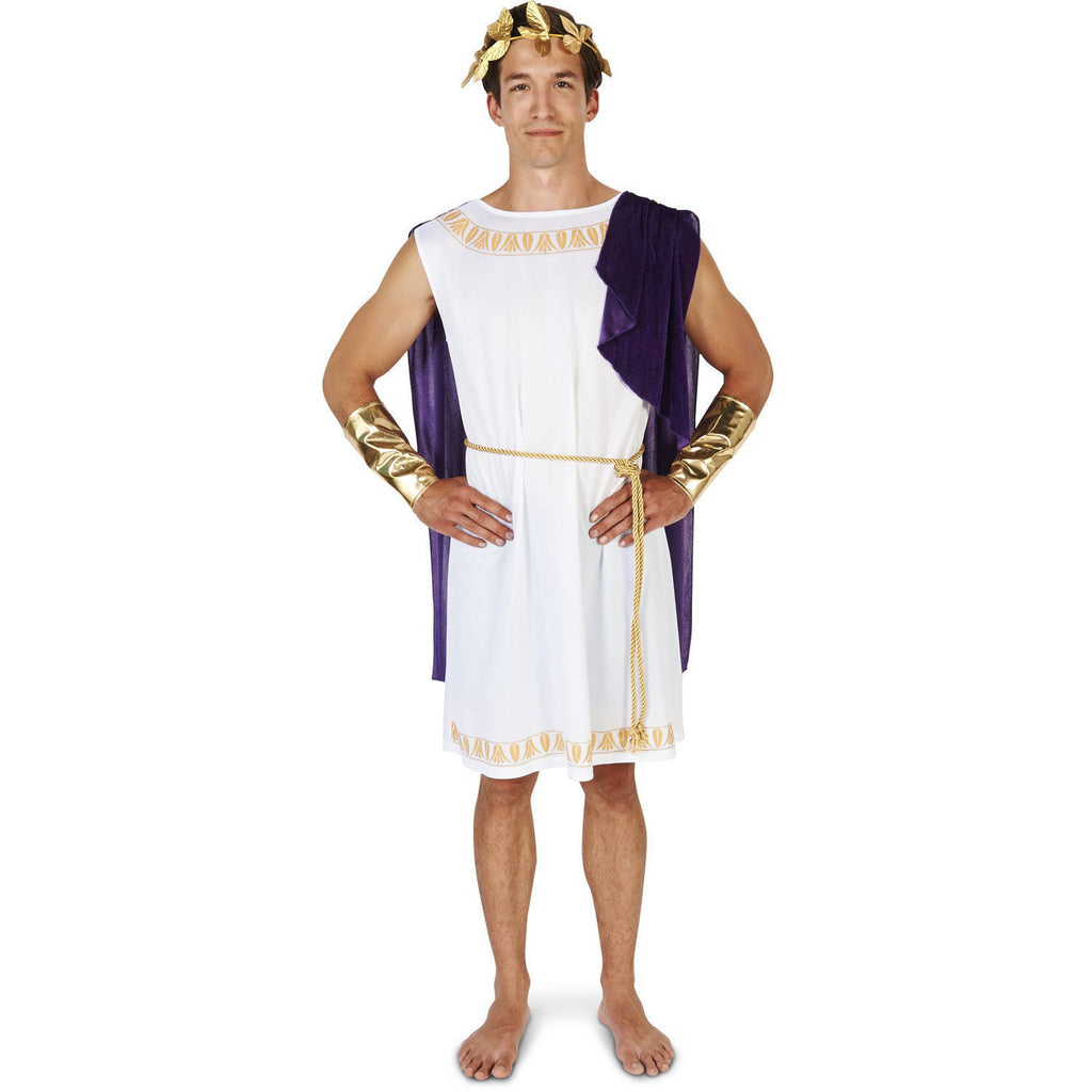 White Short Toga Men's Halloween Costume