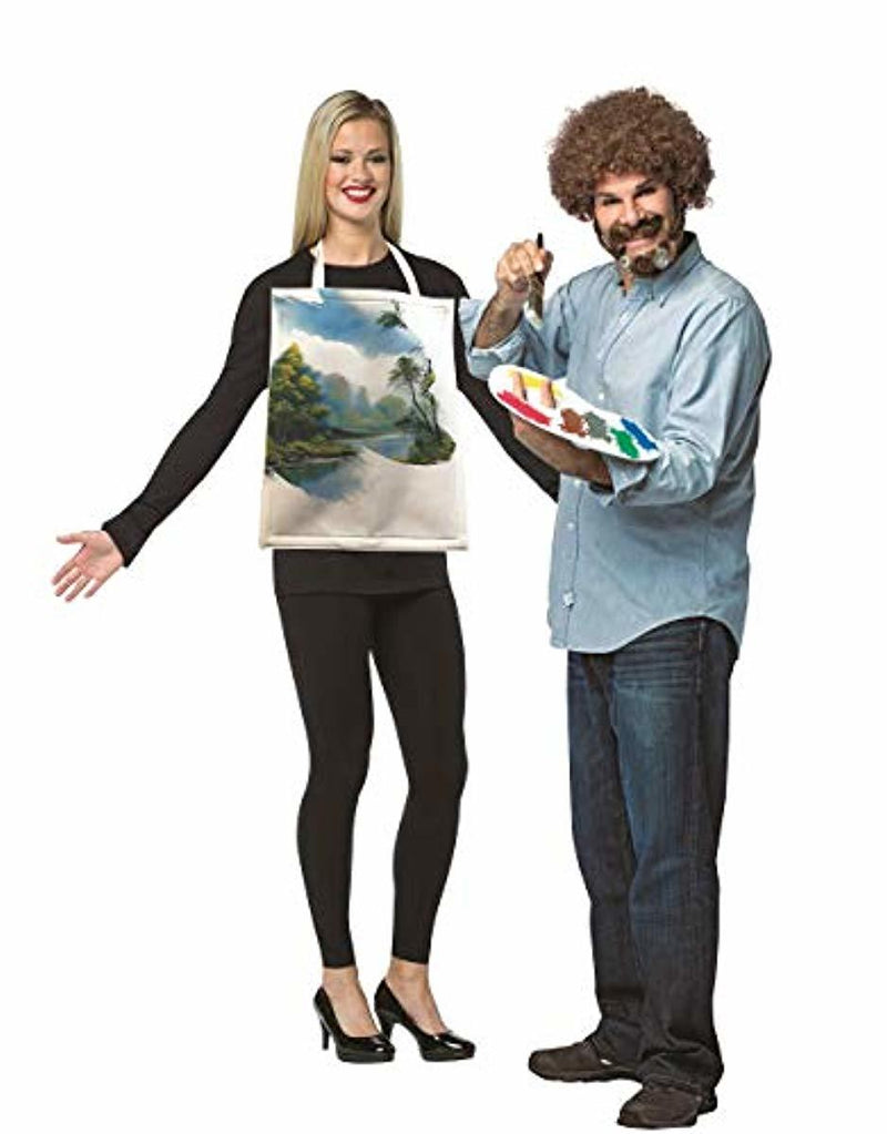 Bob Ross Kit & Painted Canvas Couples