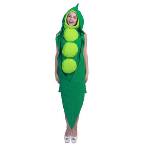 Eraspooky Funny pea pod Party Halloween Costume for Adults