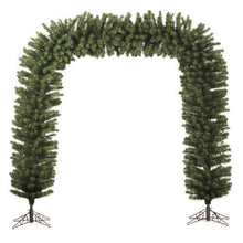 Load image into Gallery viewer, Commercial Size 9' x 8' Green Pine Artificial Christmas Archway - Unlit