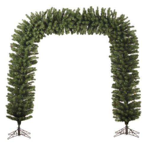 Commercial Size 9' x 8' Green Pine Artificial Christmas Archway - Unlit