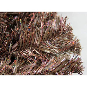 7.5' Pre-Lit Sparkling Chocolate Brown Artificial Christmas Tree - Clear Lights