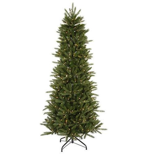 4.5' Pre-Lit Slim Vermont Fir Instant Shape Artificial Christmas Tree - Clear