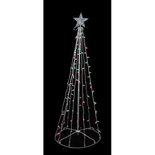 5' Red & Green LED Lighted Outdoor Twinkling Christmas Tree Outdoor Decoration