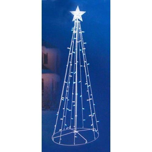 5' Blue & White LED Lighted Outdoor Twinkling Christmas Tree Decoration