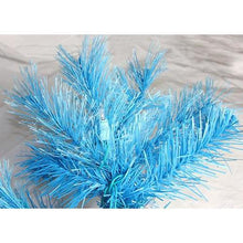 Load image into Gallery viewer, 7.5' Pre-Lit Blue Mixed Pine Cashmere Artificial Christmas Tree - Clear Lights