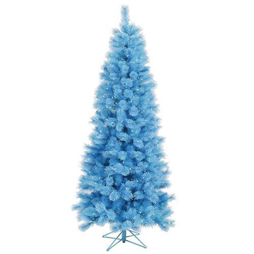 7.5' Pre-Lit Blue Mixed Pine Cashmere Artificial Christmas Tree - Clear Lights