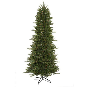 4.5' Pre-Lit Slim Vermont Fir Instant Shape Artificial Christmas Tree - Multi