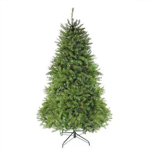6.5' Pre-Lit Northern Pine Full Artificial Christmas Tree - Multi-Color Lights