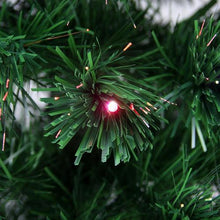 Load image into Gallery viewer, 6' Pre-Lit LED Color Changing Fiber Optic Christmas Tree with Star Tree Topper