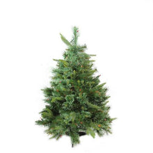 "Load image into Gallery viewer, 3' x 29"" Pre-Lit Cashmere Mixed Pine Full Artificial Christmas Tree - Multi Dura Lights"
