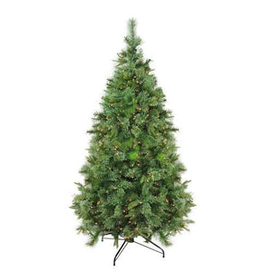 "6.5' x 49"" Pre-Lit Cashmere Mixed Pine Full Artificial Christmas Tree - Clear Dura Lights"
