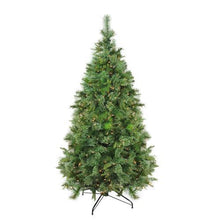 "Load image into Gallery viewer, 7.5' x 55"" Pre-Lit Cashmere Mixed Pine Full Artificial Christmas Tree - Clear Dura Lights"
