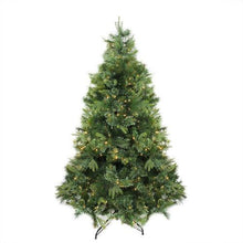 "Load image into Gallery viewer, 7.5' x 55"" Pre-Lit Cashmere Mixed Pine Artificial Christmas Tree - Warm White LED Lights"