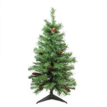 "Load image into Gallery viewer, 3' x 22"" Dakota Red Pine Full Artificial Christmas Tree with Pine Cones - Unlit"