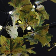 Load image into Gallery viewer, 5' LED Lighted Artificial Fall Harvest Yellow Maple Leaf Tree - White Lights