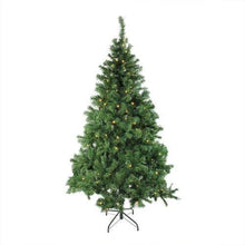 "Load image into Gallery viewer, 6' x 42"" Pre-Lit Mixed Classic Pine Medium Artificial Christmas Tree - Warm Clear LED Lights"