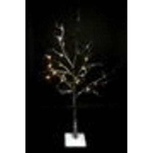 4' LED Lighted Flocked Christmas Twig Tree Outdoor Decoration - Warm Clear